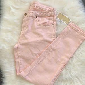 Blush Pink Skinny Michael Kors Jeans